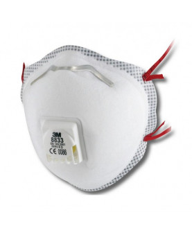 Atemschutzmaske FFP3 mit Ausatemventil, 3M 8833, Pack à 10 Stück