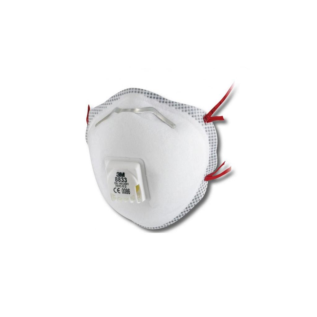 Atemschutzmaske FFP3 mit Ausatemventil, 3M 8833, Box à 10 Stück