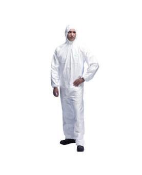"""Chemikalien-Schutzoverall Typ 5+6, mit feiner Laminierung, weiss, Supra 5201 """"Protector"""""""
