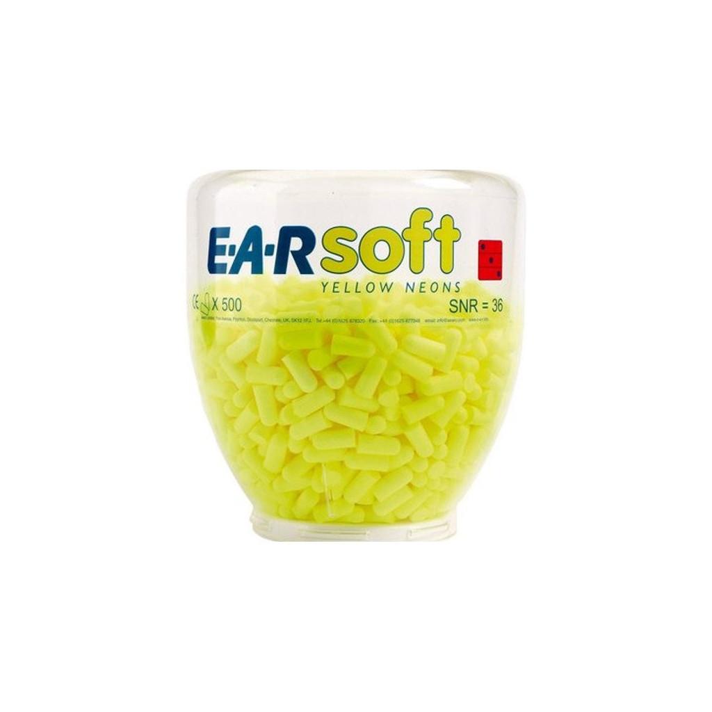 Gehörschutzstöpsel E-A-R Soft Yellow Neons Dispenser-Aufsatz 36 dB, PD01002