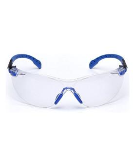 """Schutzbrille farblos, mit Scotchgard-Beschichtung, """"Solus 1000"""" blau/schwarz, 3M S1101"""