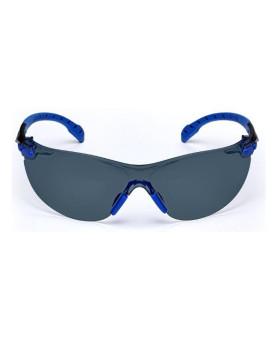 """Schutzbrille grau getönt, mit Scotchgard-Beschichtung, """"Solus 1000"""" blau/schwarz, 3M S1102"""