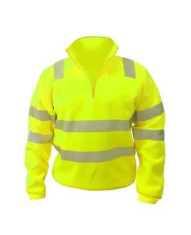 Warnschutz Sweater Half-Zip EN ISO 20471, Klasse 3