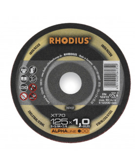 Trennscheibenblätter INOX Rhodius XT70, 125mm, 1mm, Pack à 100 Stück