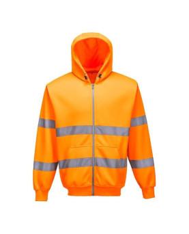 Warnschutz-Kapuzensweatshirt-Jacke, Portwest B305