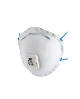 3M 8322 Feinstaubmaske FFP2 mit Ventil, Pack à 10 Stück
