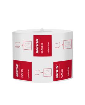 WC-Papier Katrin 2-lagig Classic System weiss 801 Blatt 10x12.5cm 100m, Karton à 36 Rollen