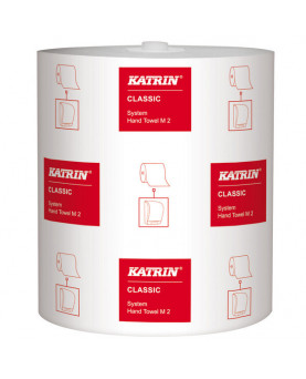 Handtuchrolle Katrin 2-lagig Classic System M2 weiss 21cm x 160m 680cps, Karton à 6 Rollen