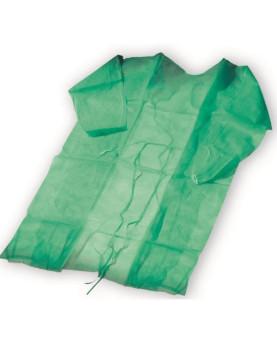 Besucherkittel grün PP-Vlies 23g/m² gegen Penetration von Bakterien und Viren, Karton à 100 Stück
