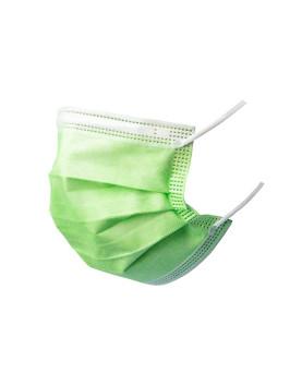 Medizinische Hygienemasken Typ IIR grün 3-lagig EN 14683 CE, Pack à 50 Stück (5x10)