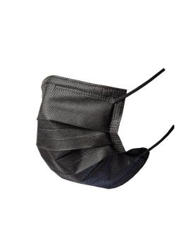 Medizinische Hygienemasken Typ IIR schwarz 3-lagig EN 14683 CE, Pack à 50 Stück (5x10)