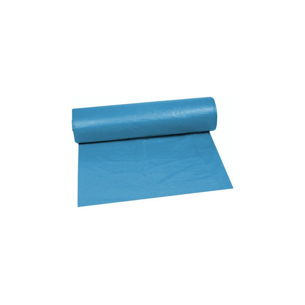 Bau-Müllsäcke aus blauem LDPE 80my, 700x1100mm, Rolle à 15 Säcke, 120 Liter