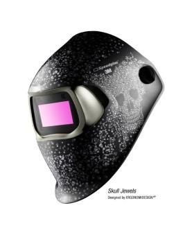 """Automatikschweissmaske, 3M Speedglas 100, """"Skull Jewels"""""""