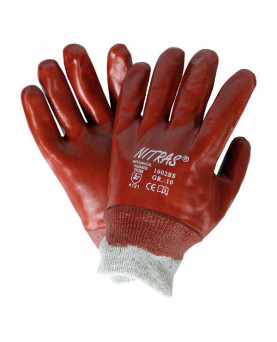 PVC-Handschuh rotbraun, Nitras 1602SS