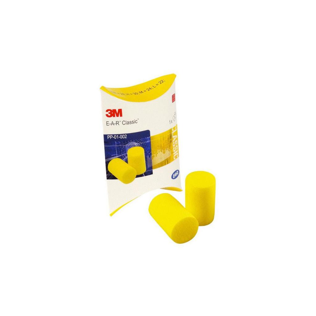 """Gehörschutzstöpsel gelb, 3M """"E-A-R Classic II"""", Pack à 250 Paar"""