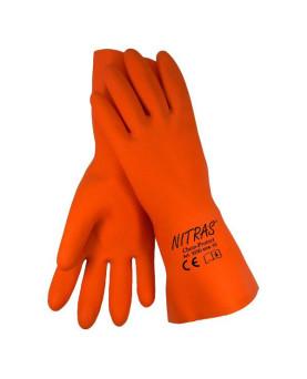 """Nitrilhandschuh orange, Nitras 3250 """"Chem Protect"""""""