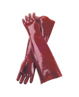 PVC-Handschuh rotbraun, Nitras 160245