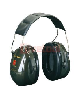 """Kapselgehörschutz mit Kopfbügel grün, 3M """"Peltor Optime 2"""""""