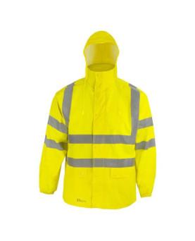 Warnschutz-Regenjacke mit Kapuze, Prevent