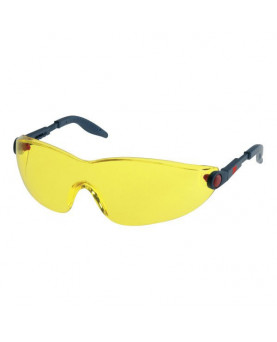 Schutzbrille, komplett einstellbar, gelb getönt, 3M 2742