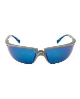 Solus Schutzbrille blau/silber verspiegelt, silber/blauer Rahmen, 3M 71505