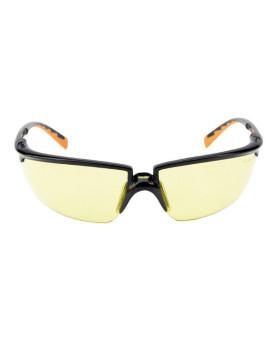 Solus Schutzbrille gelb getönt, schwarz/orangen Rahmen, 3M 71505