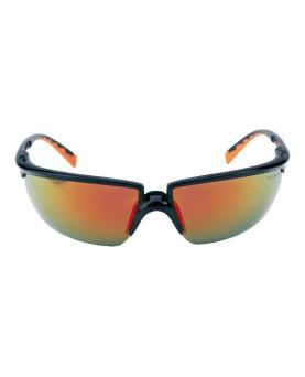 Solus Schutzbrille rot verspiegelt, schwarz/oragen Rahmen, 3M 71505