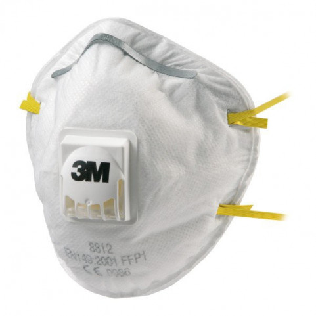 Atemschutzmaske FFP1 mit Ausatemventil, 3M 8812, Box à 10 Stück