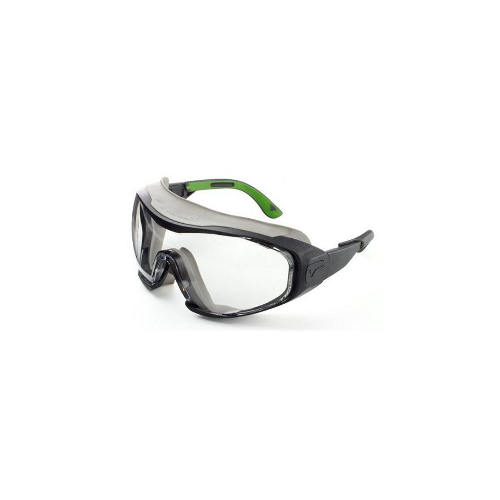 Vollsichtbrille farblos, Bügel auswechselbar durch Kopfband, Univet 6X1