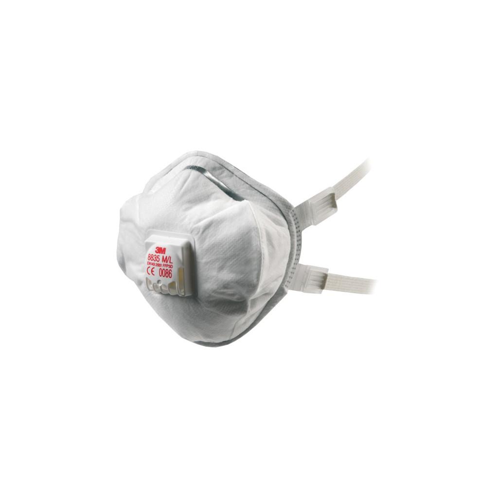 Atemschutzmaske FFP3 mit Ausatemventil, 3M 8835, Box à 5 Stück