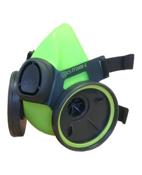 """Halbmaske aus Thermoplastik mit zwei Filteranschlüssen, BLS TP2000R """"Vortex"""""""