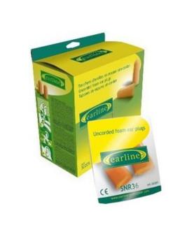 Gehörschutzstöpsel gelb, paarweise verpackt, 30205, Pack à 200 Paar