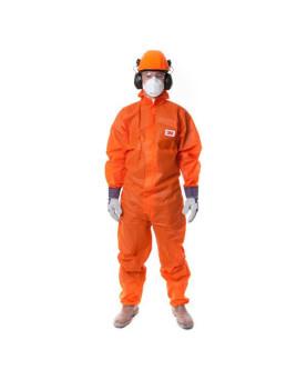 Einweg-Schutzanzug mit Kapuze orange, 3M 4515