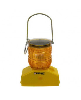 LED-Baustellen-Solar-Warnlampe, Asphalt