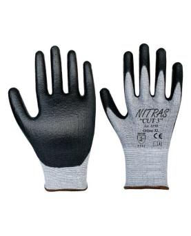 """Schnittschutz-Handschuh mit PU-Beschichtung, Nitras 6350 """"Cut 3"""", Gr. 6/S"""